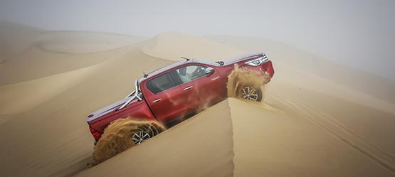 Nieuwe Toyota Hilux: robuuste woestijnroos