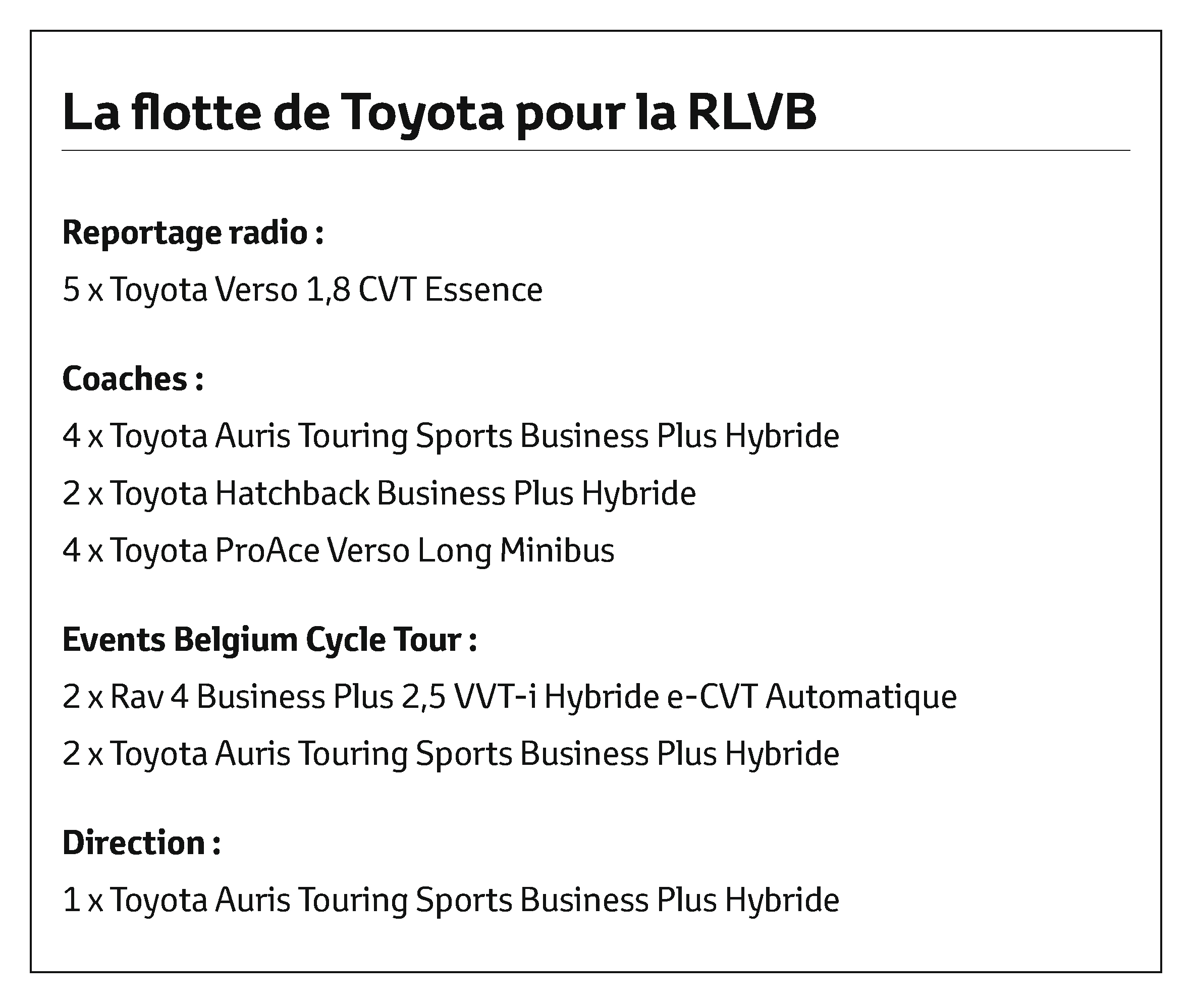 Flotte Toyota